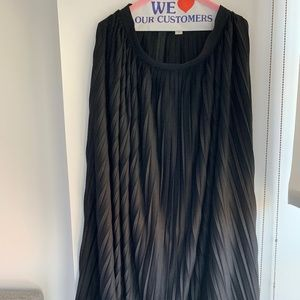 J Crew Pleated Black Maxi Skirt